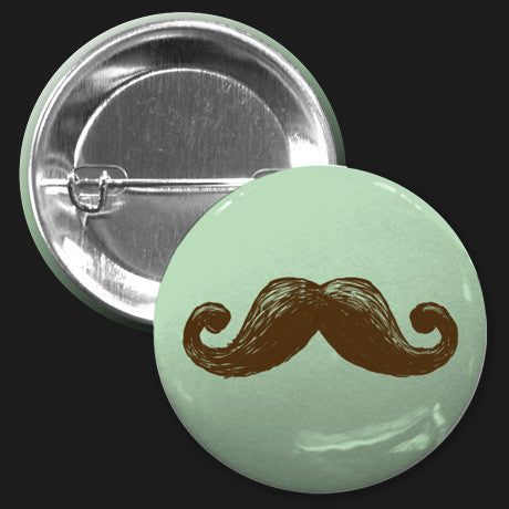 Mustache Button (Green)