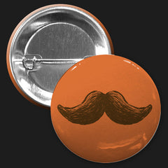Mustache Button (Orange)