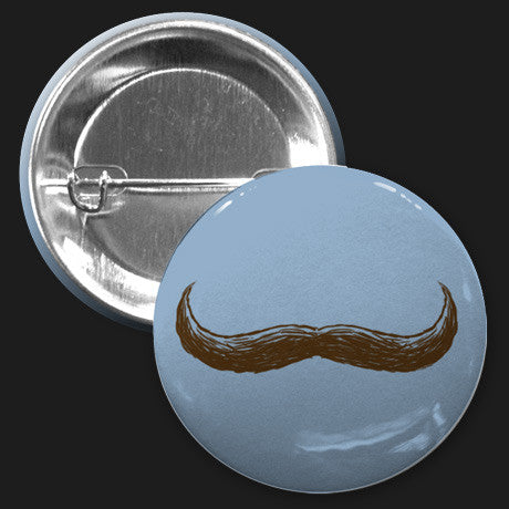 Mustache Button (Blue)