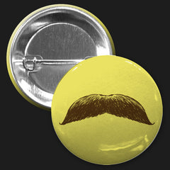 Mustache Button (Yellow)
