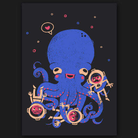Aquatic Affection Print