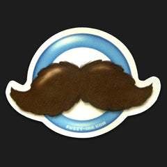 Mustache Logo Sticker