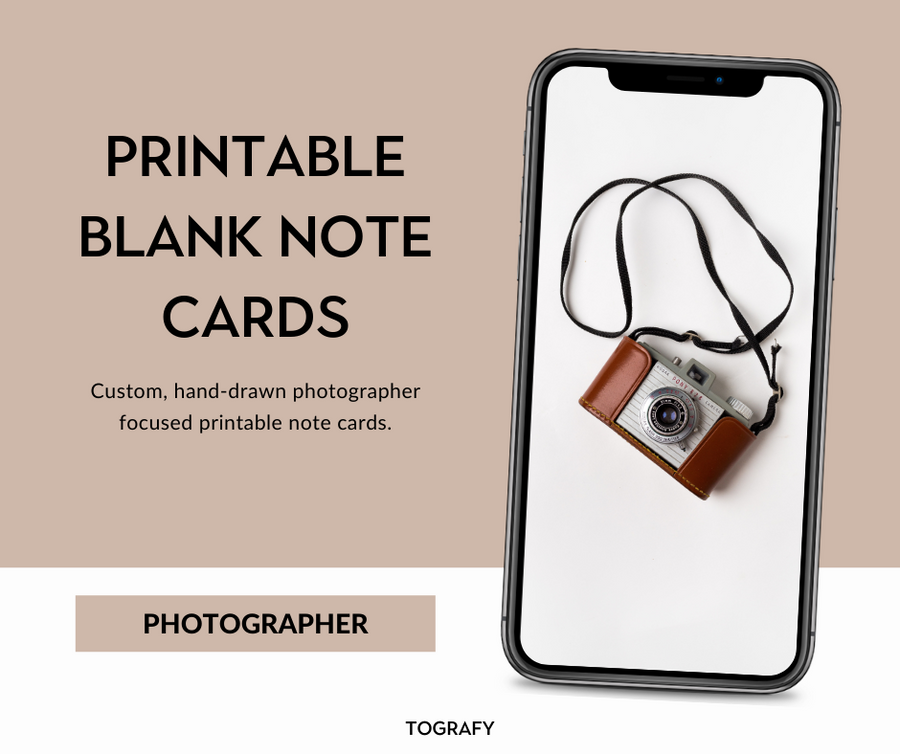 Stationery - Four Printable Photography Notecards