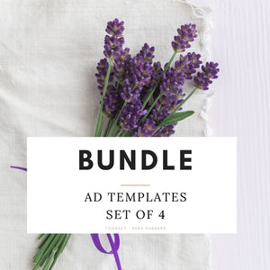 Bundle - Ad Templates, Winter and Fall, Set of Four