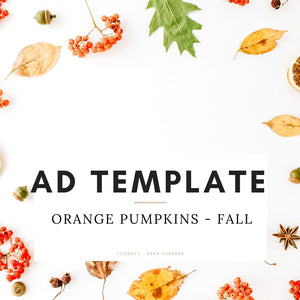 Ad Template - Orange Pumpkins, Fall