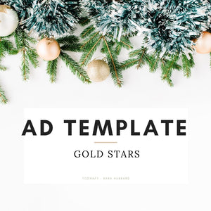 Ad Template - Gold Stars, Holiday