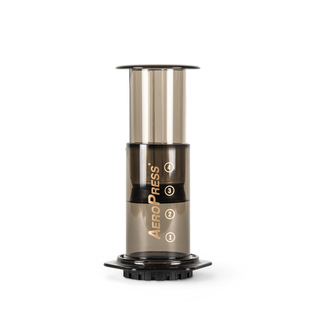 An AeroPress coffee maker