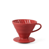 Hario V60 2 cup coffee dripper, red