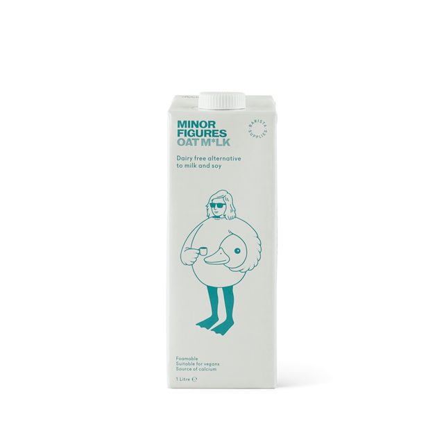 One litre carton of Minor Figures Oat Milk Dairy Free Alternative suitable for vegans