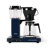 Technivorm Moccamaster coffee maker with glass carafe in midnight blue