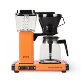 Technivorm Moccamaster coffee maker with glass carafe in orange