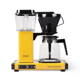 Technivorm Moccamaster coffee maker with glass carafe in yellow