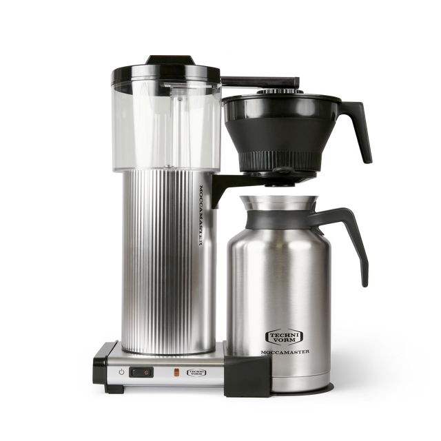 Technivorm Moccamaster Grand coffee maker with thermal carafe in silver