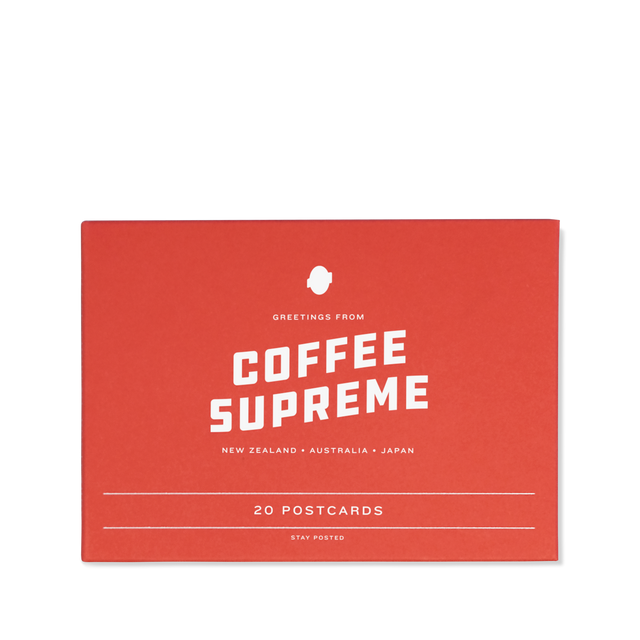 Pack of 20 Coffee Supreme postcards