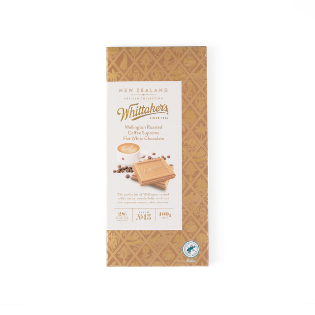 Whittaker's flat white coffee Supreme chocolate