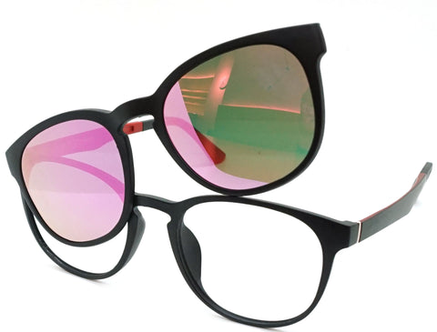 Alert - Black Red Mirror - See.Saw.Seen Eyewear