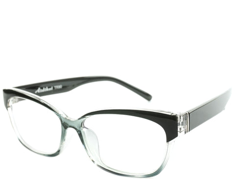 Eugenia - White Black Crystal Demi - See.Saw.Seen Eyewear