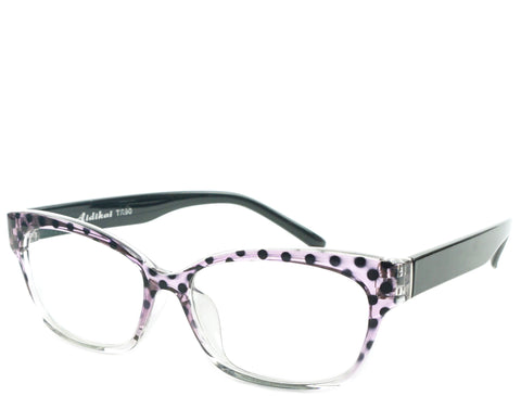 Eugenia - Purple Poka Crystal Demi - See.Saw.Seen Eyewear