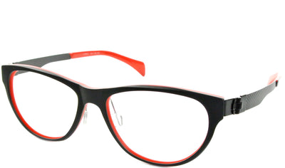 Evelyn - Black and Red - See.Saw.Seen Eyewear
