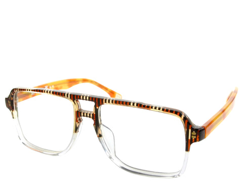 Gordon - Brown Pattern Demi - See.Saw.Seen Eyewear