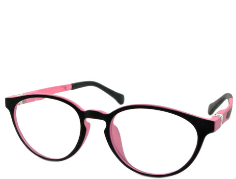 Rey (petite) - Black and Pink - See.Saw.Seen Eyewear