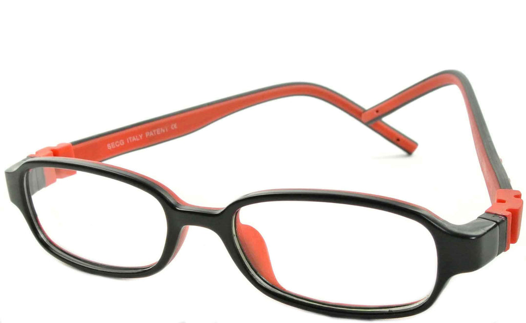 Black Amp Red Children Eyeglasses