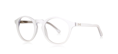 Clark - White Clear Layer - See.Saw.Seen Eyewear