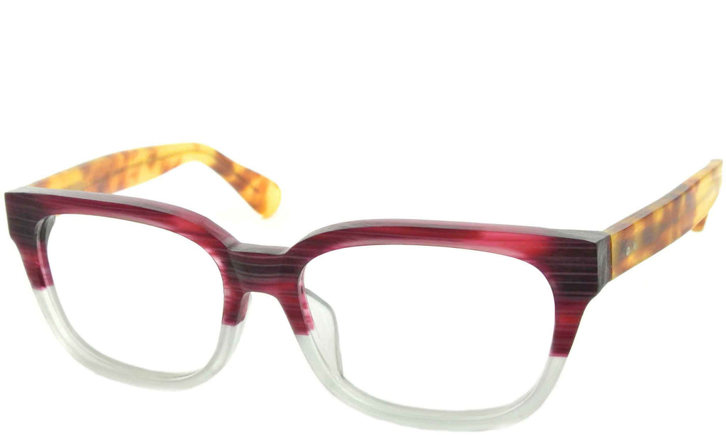 Burgundy Streak Demi Retro Eyeglasses