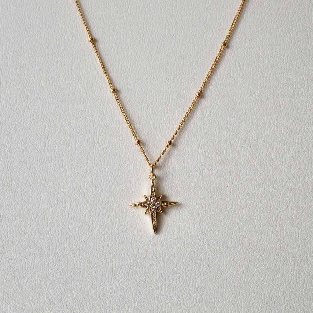 Satellite Chain Twinkle Star Necklace - Gold/Silver