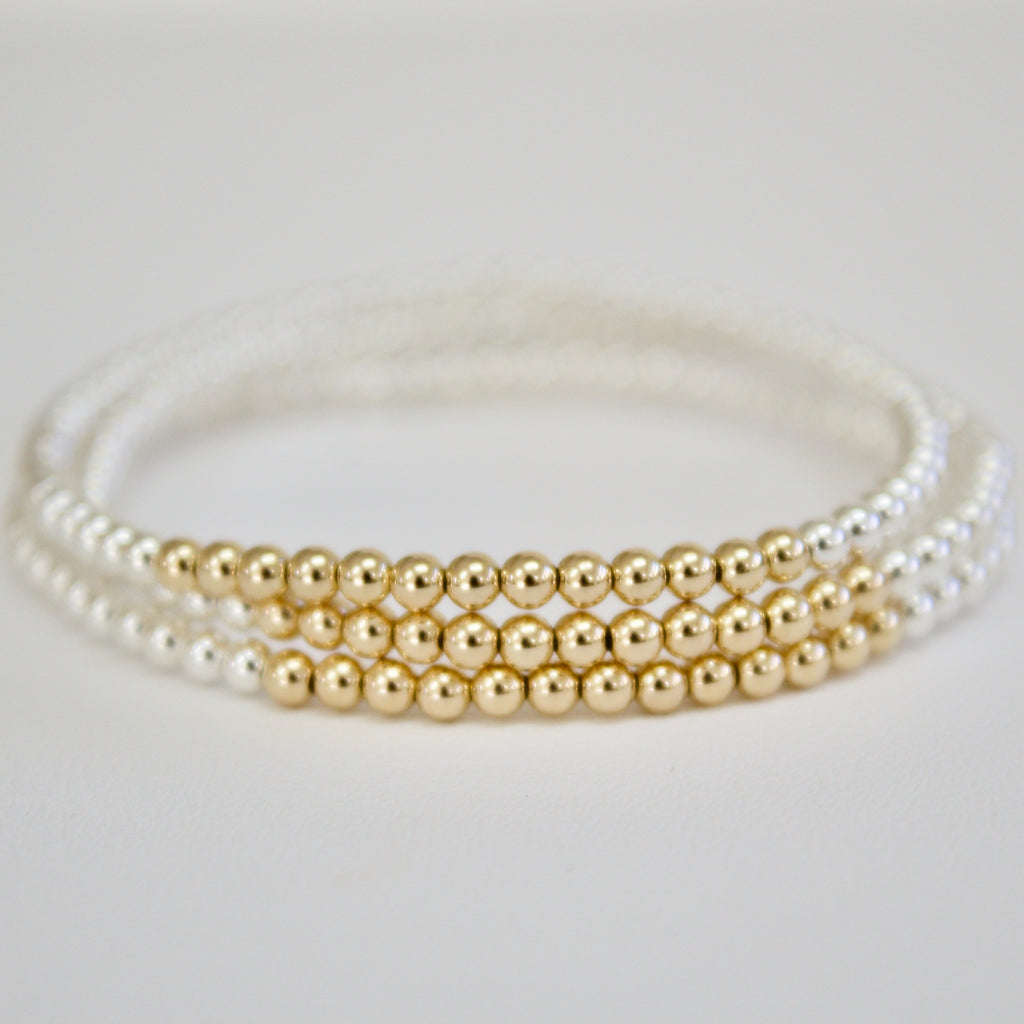 Gold/Silver Bead Bar Bracelet
