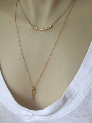 Fine Gold Bar Necklace