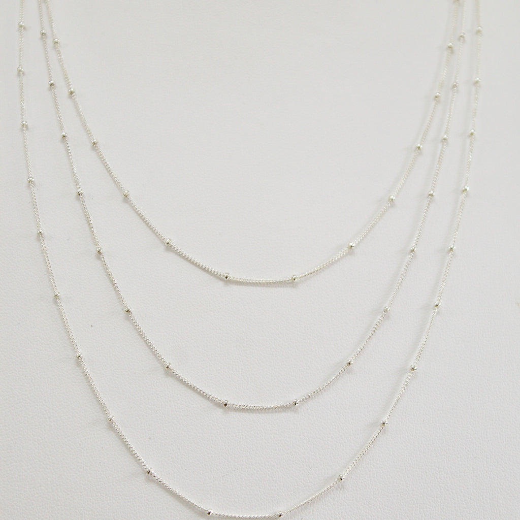Satellite Chain Necklace - Silver