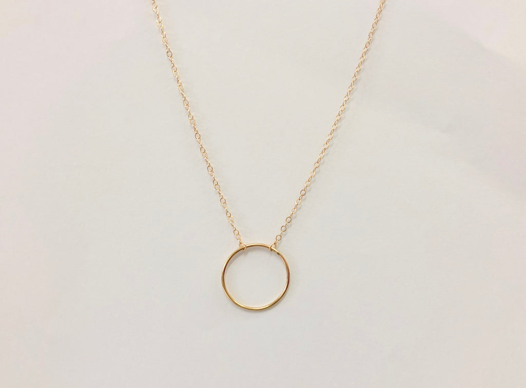 Fine Gold Circle Necklace