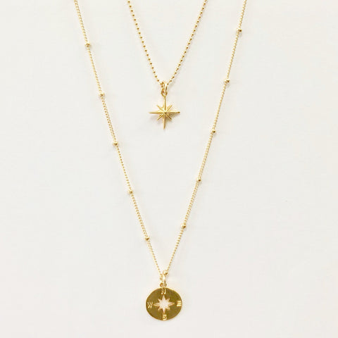 Gold/Silver Ball Chain/Twinkle Star Necklace