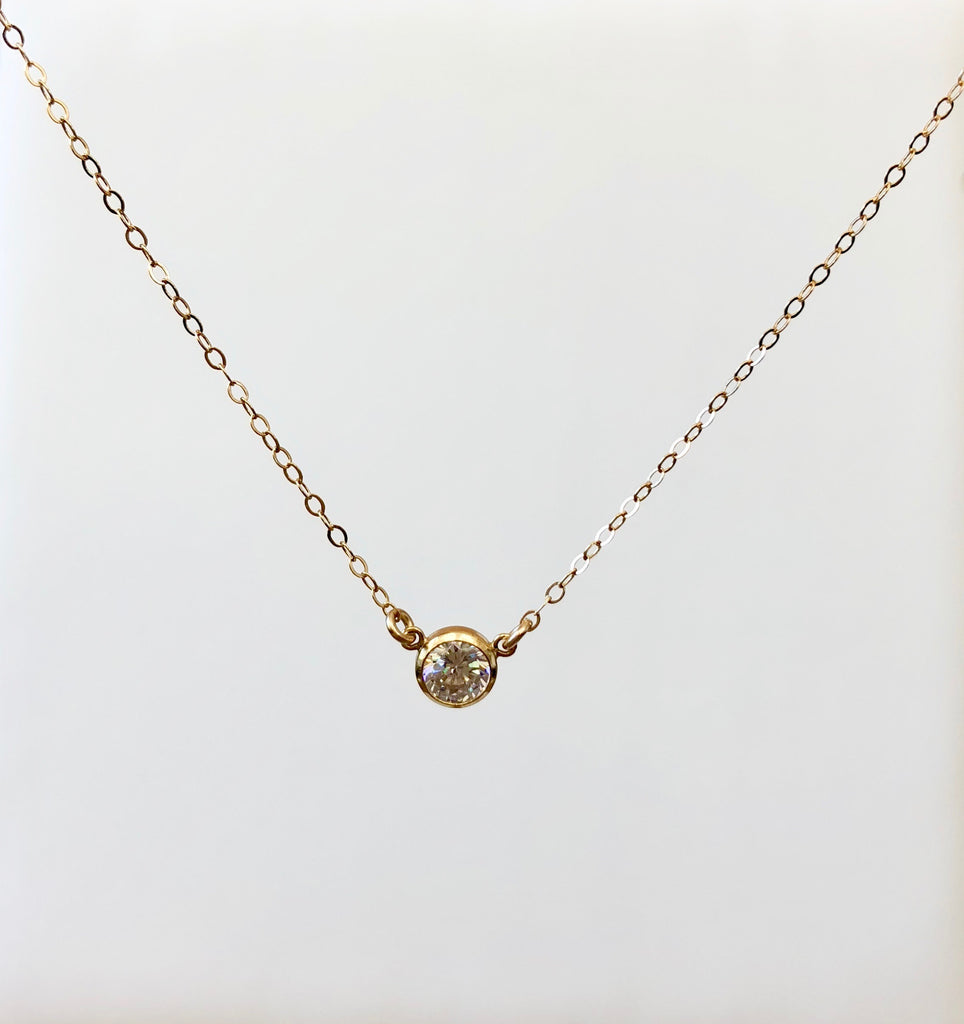 Gold Diamante Cable Chain Necklace