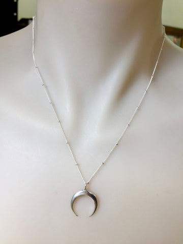 Satellite Crescent Moon Necklace