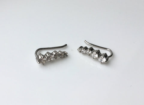 Diamante Ear Climbers