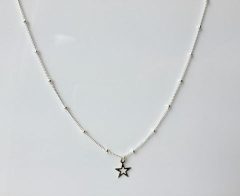 Silver Satellite Star Necklace (Petite)