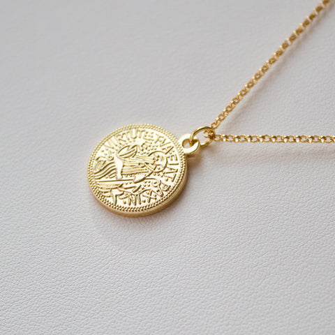 Virtute Tua Fiat Pax Necklace