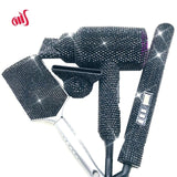 Crystal Hair Bundle (blowdryer, hairbrush, hair straightener)