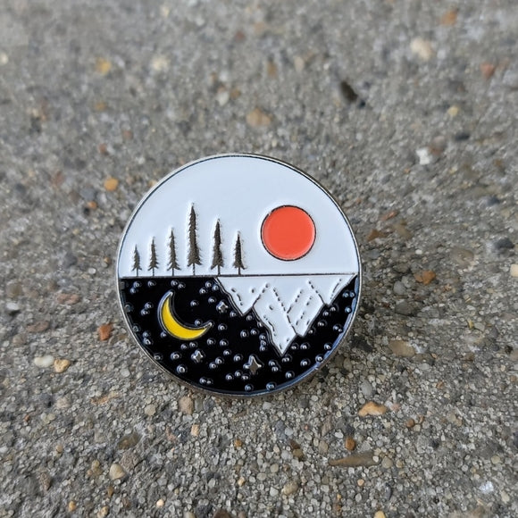 Day And Night 🌙Travel Camping Enamel Pin