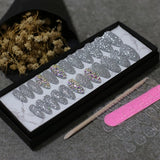 Crystal Rhinestone Extra Long Coffin Shaped Press On Nails (various colors)