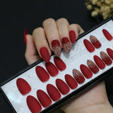 Glitter Ombre Stiletto Shaped Artificial Acrylic Nail (Various Colors)