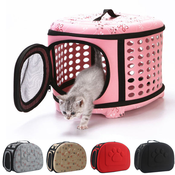 Portable Foldable Travel Pet Carrier with Breathable Circles