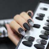 Stiletto Black Ombre Fake Press On Nail