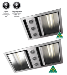 IXL Bathroom Heater Lights with Exhaust Fan (Dual and Single)