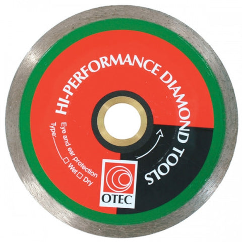 Trade Quality Otec Continuous Rim Blade 7inch 180mm Wet/Dry