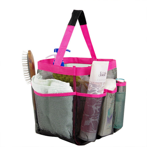 Mesh Fabric Quick Dry Shower Tote Storage Bag Bath Organizer Handbag For Bathing