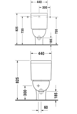 Duravit Darling Toilet Close Couple
