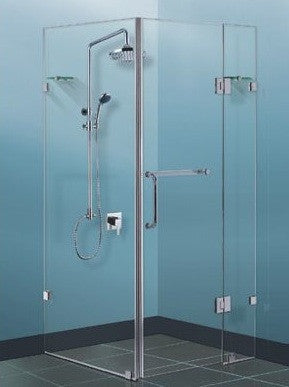 Frameless shower screen 1000 x 1000 x 1950